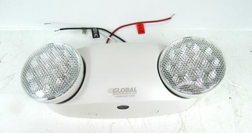 Global 500780 2 LED Head Emergency Unit w/ Adjustable Optics NEW