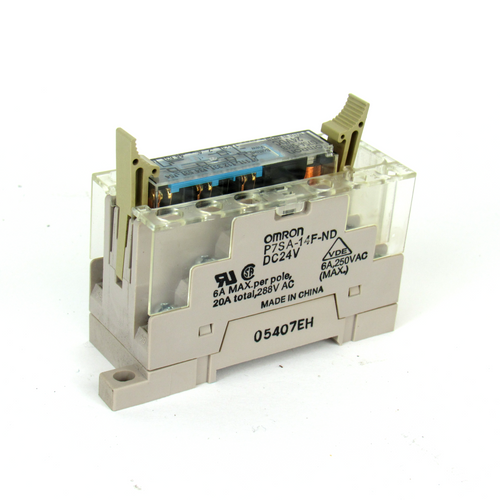 Omron G7SA-5A1B Safety Relay w/ P7SA-14F-ND Relay Socket, 24V DC