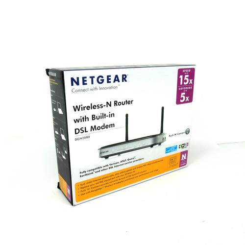 Netgear DGN2000-100NAS Wireless-N Router with Built-In DSL Modem