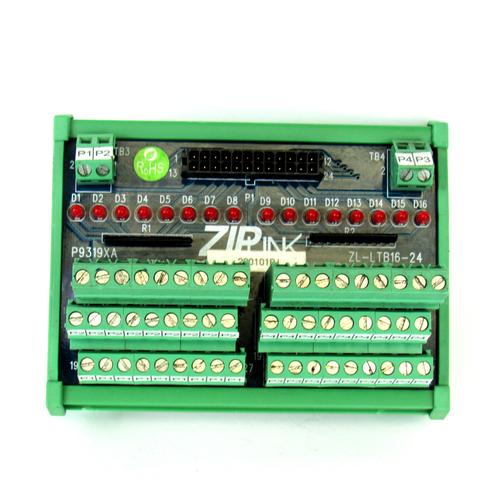 Automation Direct ZipLink ZL-LTB16-24 LED/Sensor Input Module, 30V AC/DC
