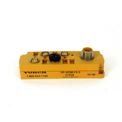 Turck VB 403M-FS 8 Junction Box Relay, 10-48V DC