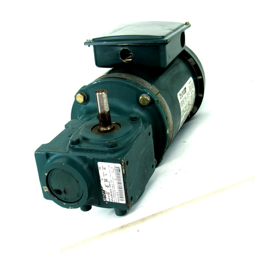 Reliance P56H5069H Electric Motor, 208/480V, 1/2 HP w/ 13Q05L56 Gear Reducer