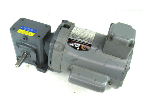 Boston Gear 34F52-5507 Electric Motor w/ F713B-5X-B5-G Speed Reducer