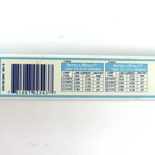 Advance ICN-2S28 Centium Programmed Start Electronic Ballast, 2-Lamp, 120-277V