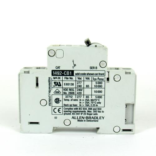 Allen Bradley 1492-CB1 G 060 6 Amp, 1 Pole, 277V Circuit Breaker
