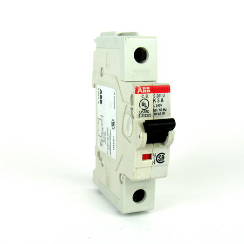 ABB S 201 U K 5 A Circuit Breaker, 240V AC, 5 A