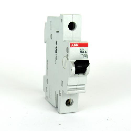 ABB S271 KS 5 A Circuit Breaker, 5 A, 230/400V