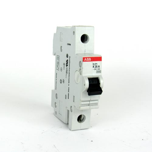 ABB S271 K25A Circuit Breaker, 25 A, 230/400V AC