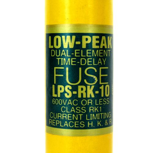 Cooper Bussmann LPS-RK-10 Dual-Element Time-Delay Fuse, 600V AC, 10 Amp