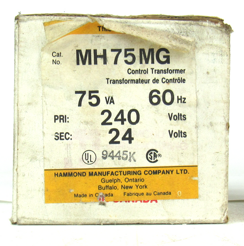 Hammond Manufacturing MH75MG 3 Phase Dry Type Reactor NEW