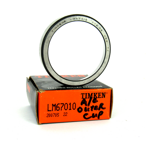 """Timken LM67010 Tapered Roller Bearing Outer Cup, 2.328"""" OD"""