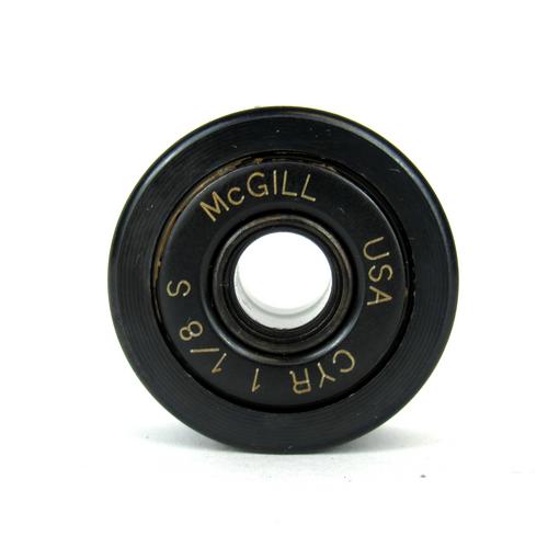 "McGill CYR 1 1/8 S Crowned & Flat Yoke Rollers, 0.3125"" Bore Diameter"