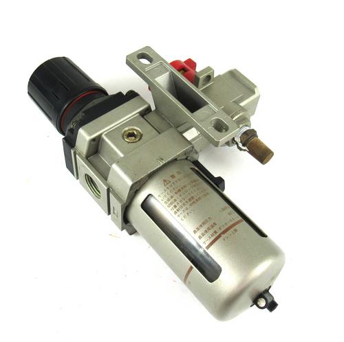 Smc NAW4000-N04 Pneumatic Air Filter with NHVS4500-N04-X116 Shut Off Valve