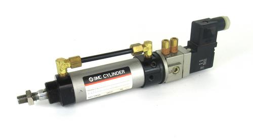 SMC CV1F30-50-3D Cylinder w/ VF1190 Solenoid Valve