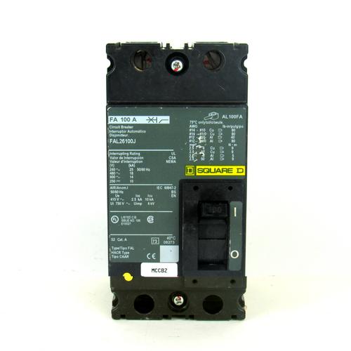 Square D FAL26100J Circuit Breaker, 100 A, 240-600V