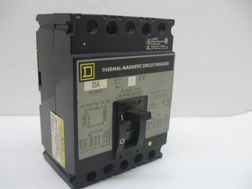 Square D FAL36015 15 Amp Thermal Magnetic Circuit Breaker