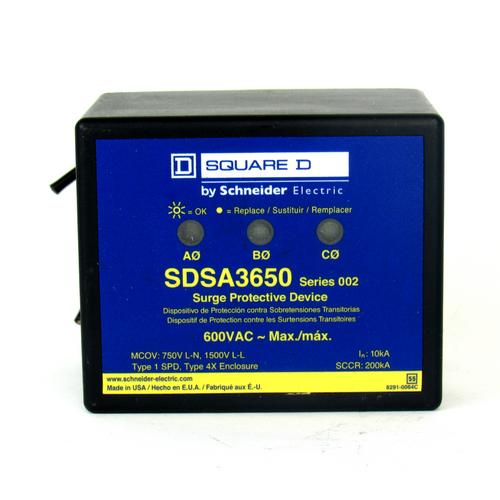 Square D SDSA3650 Ser. 002 Surge Protective Device, 600V AC