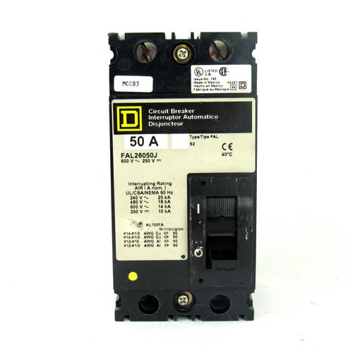 Square D FAL26050J Circuit Breaker, 50 Amp, 2-Pole