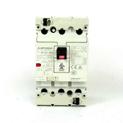 Mitsubishi NF100-HRU3001 Circuit Breaker, 1 Amp, 480V AC, 3-Pole