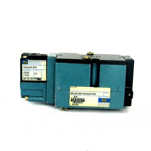 Mac Valve 82A-AA-000-TM-DAAP-2DA Solenoid Valve w/ TM-DAAP-2DA Solenoid Coil