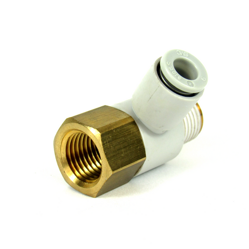 SMC KQ2VF06-02S Fitting, 6mm (Pack of 4)