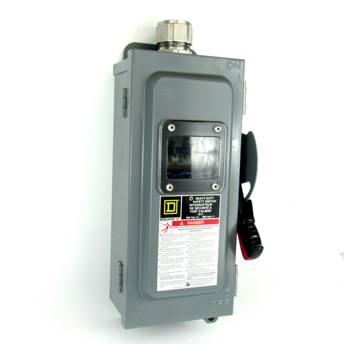 Square D CH361AWK Fusible Enclosed Safety Switch, 600V AC/DC, 30 Amp