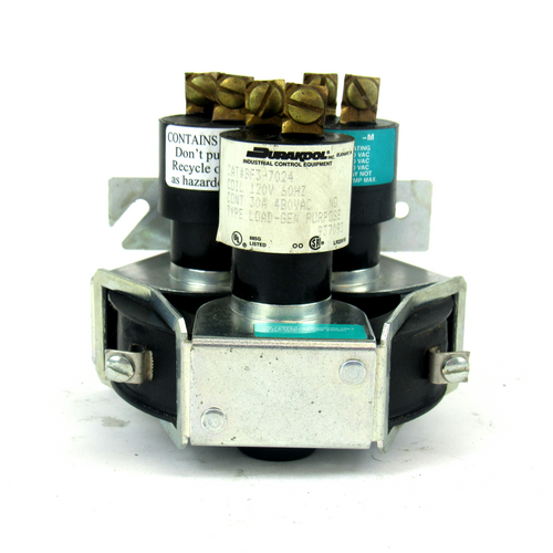 Durakool BF3-7024 Mercury Displacement Relay Coil, 120V AC, 3-Pole