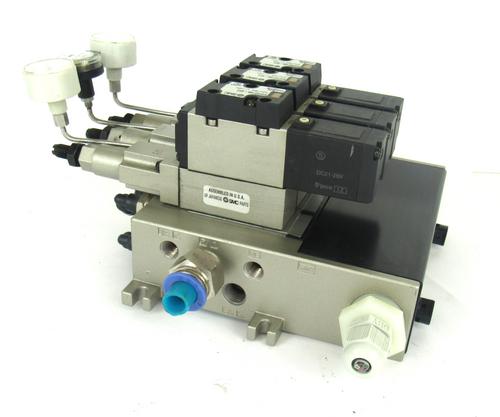 SMC NVFS2100-5FZ / NVV5FS2-01T1-041-02T Solenoid Valve Assembly