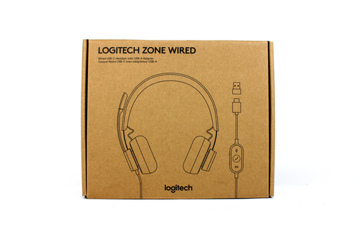 Logitech 981-000876 Wired USB-C Headset with USB-A Adapter
