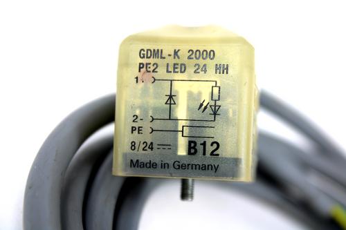 Hirschmann GDML-K 2000 Cable Socket, 8/24V DC