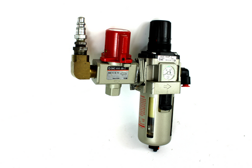 SMC AW40-N04EH-Z Pneumatic Filter Regulator w/ VHS40-N04-Z Lock Out Valve