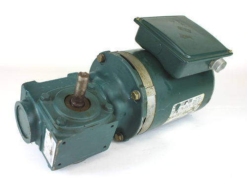 Reliance Electric P56X13 HG Electric Motor, 1/2HP, 1725RPM, 230/460V w/ Dodge Tigear MR96100 Right Angle Speed Reducer