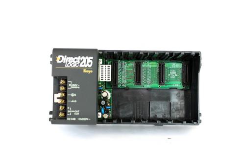 Automation Direct D2-04B Direct Logic 205 I/O Module Base, 4-Slot, 110/220V AC