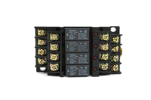 Omron G6B-47BND Relay Terminal, 250V AC w/ G6B-1174P-FD-US Relay 250V AC, 24V DC