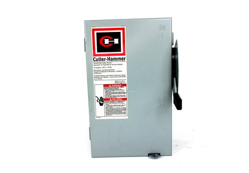 Cutler-Hammer DG221NGB Ser. B General Duty Enclosed Safety Switch, 30 AMP, 240V