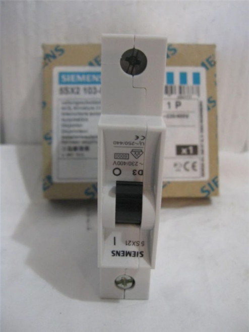 Siemens 5SX2 103-8 Miniature Circuit Breaker New