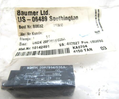 Baumer Electric UNDK 20P7914/S35A Ultrasonic Distance Measuring Sensor