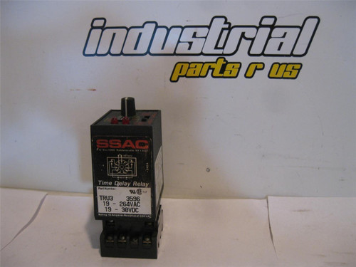 SSAC TRU3 3596 Time Delay Relay w/Base