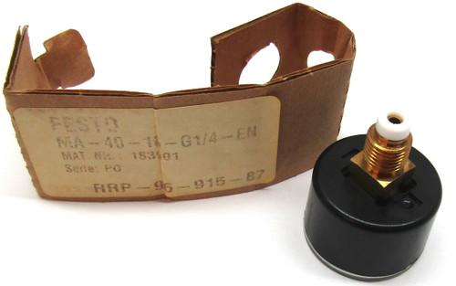Festo MA-40-16-G1/4-EN Pressure Gauge 183901 Ser. PO