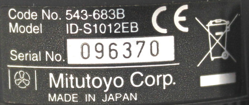 Mitutoyo Absolute ID-S1012EB Digital Indicator 543-683B