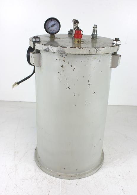 "Custom Made Pressurized Glue Pot Approximately 2 Gallon 14"" Tall 8"" Diameter"