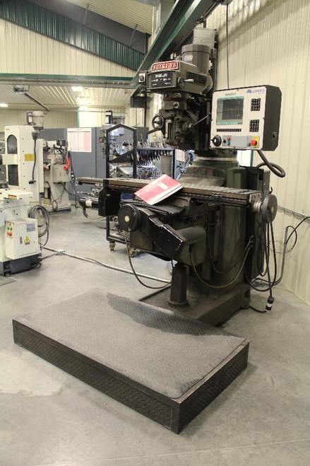 Seiki 4VH 3 Axis CNC Milling Machine 10 x 50 Table, 3Hp, Milltronics Centurion 6