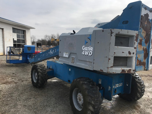 1996 Genie S60 Pneumatic Boom Lift 60' 4x4 Diesel Man Lift 11,114 Hrs
