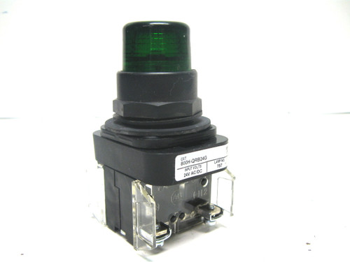 Allen Bradley 800H-QRB24G Momentary Green Illuminated Pushbutton 24 Vac/Vdc