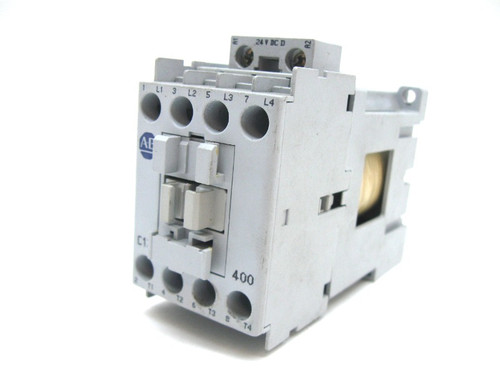 Allen Bradley 100-C12D 400 Contactor, 4 Pole, N.O. Contacts, 24V Coil,12A