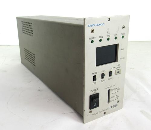 Ono Sokki TS-2600 Torque Converter 100-240V 50/60Hz