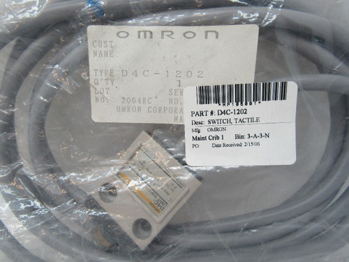 Omron D4C-1202 Limit Switch 250V 5A