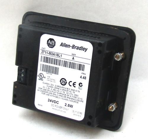 Allen Bradley 2711-M3A18L1 Series A PanelView 300 Micro 24Vdc 4.48FRN 2.5W