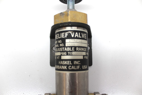 Haskel 27741-4 Relief Valve 1000 PSIG - 10000 PSIG Stainless Steel Body