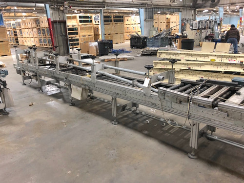 "Logomat Powered Roller Conveyor 20"" Wide x 150' Linear Feet Sew Eurodrive Motor"